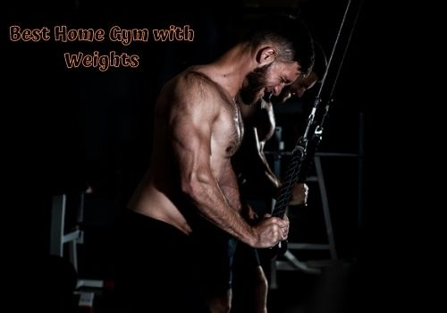 home gym with weights