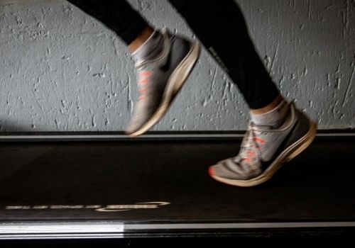 burning calories on a treadmill