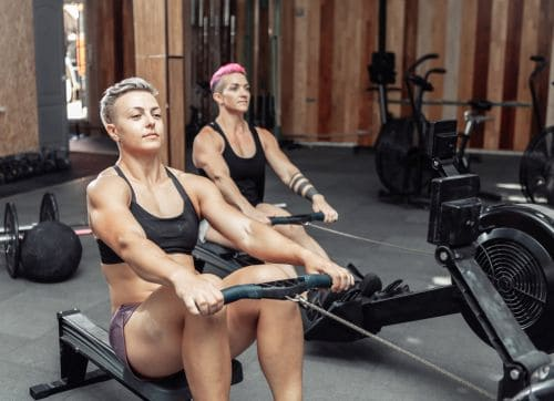 can rowing build muscle